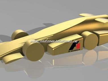 Designed F1 miniature Model for F1 in school Project