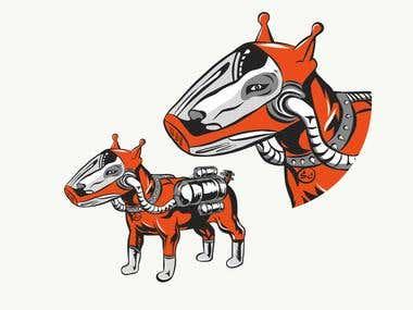 SPACE-DOG. Illustration For sale