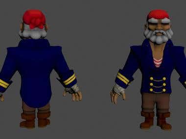 Old Captain - 3D Character