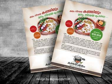 flyer design kanjikkalam