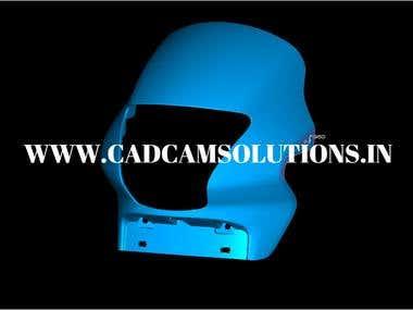 Bike Visor Design By CAD CAM Solutions