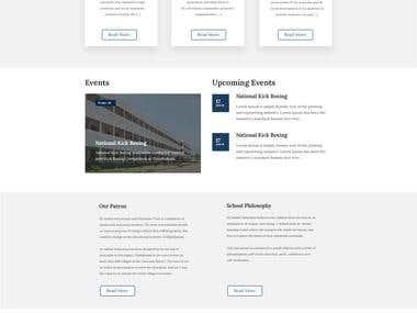 Webdesign for School.