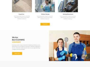Webdesign for cleaning company.