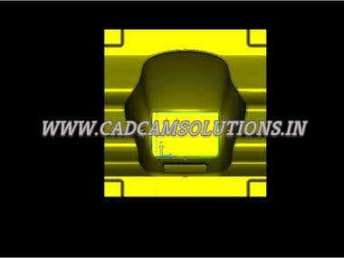 Bike Visor Design of Hero Honda Splend By CAD CAM Solutions