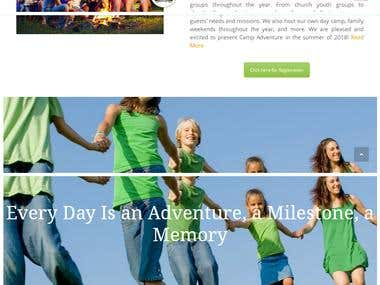Content Management Website for Adventure Camp