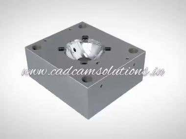 Complete mold design video by CAD CAM Solutions