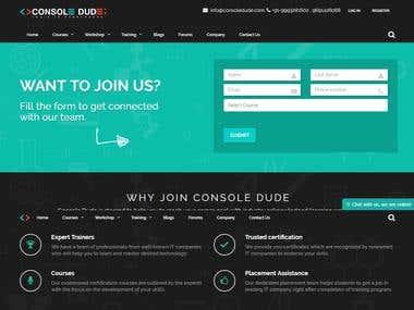 Online Traing Institure Portal - http://consoledude.com/