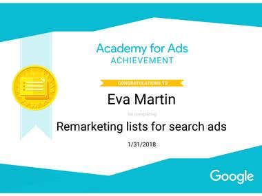 Google AdWords Remarketing for Search Certification