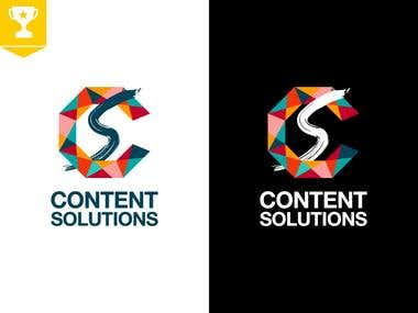 CONTENT SOLUTIONS Logo + Branding Kit Design