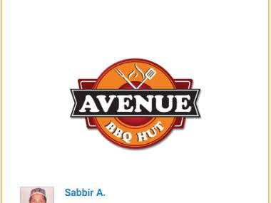 Avenue BBQ Hut Logo