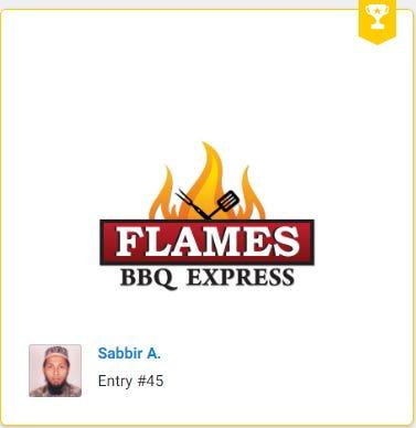Flames BBQ Express Logo