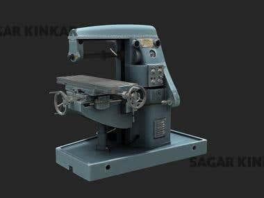 3d model of a miller machine