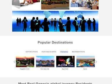 Virtual world site.