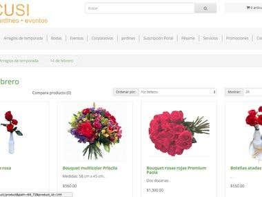 Sitio Web y tienda en linea Cusi Flores