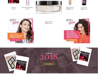 Pretty me store for cosmetic