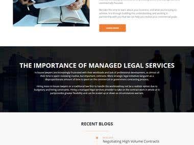 Customizing WordPress Theme and build the corporate site