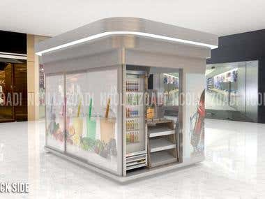 Design Outdoor Conveinence Kiosk INSIDE VIEW