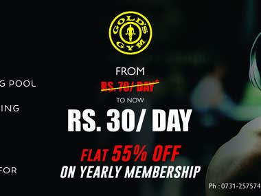 Gold's Gym Paper Ad
