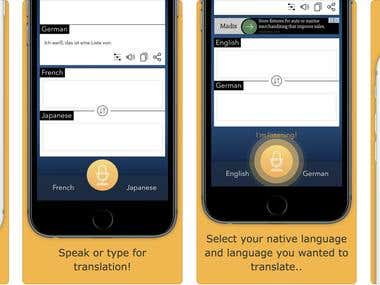 Interpreter Voice Translator : Speech 2 text & Text 2 Speech