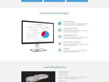 Webdesign for Virtual Tour company.