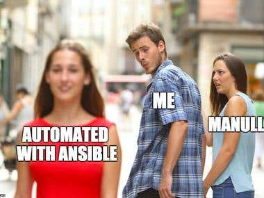 Automated tasks with Ansible