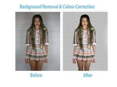 Background Removal & Colour Correction