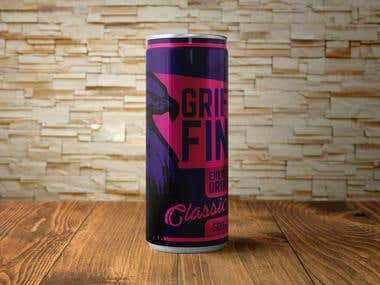 Label design for Griffin ( energy drink )