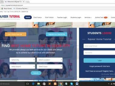 Application for online tutor management