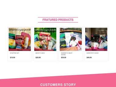 Online women's product ordering website , harriets4her.com