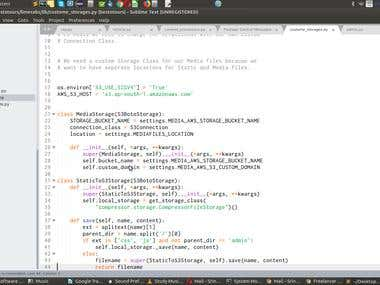Django Custom storage code to use with AWS Buckets