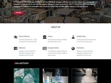 plastic products showcasing website