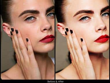 Cara Delevingne Retouch
