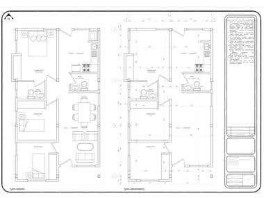 Floor plan of single-family housing