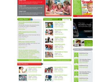 TP magazine website design