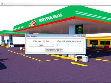 Simulador Gasolinera