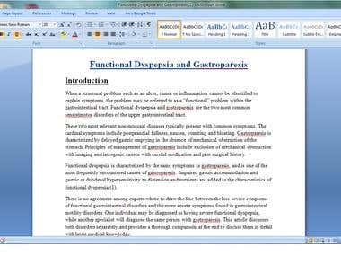 """Research on """"Functional Dyspepsia & Gastroparesis"""""""