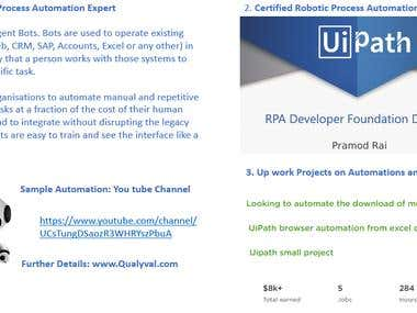 Experienced Process Automation Consultant