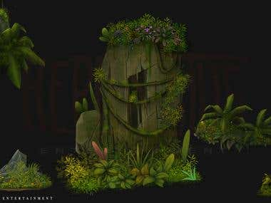 Forest elements for Game Background