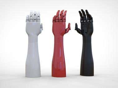 3D Printed Functional EMG Prosthetic hand + video