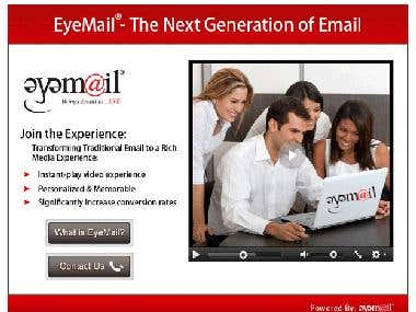 Constant Contact email template for campaign.