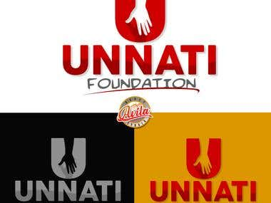 Unnati Foundation Logo Design 1