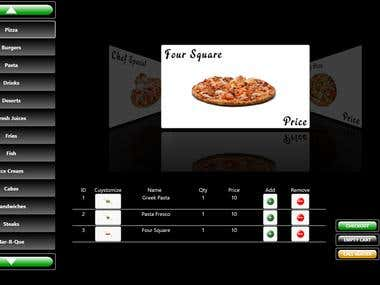 Touch Food Menu Application