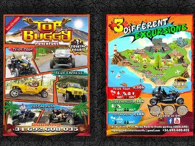 "FLYER - POSTER ""TOP BUGGY ADVENTURE"" TENERIFE - SPAIN"