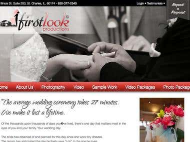 FirstLook Wedding Photography Website