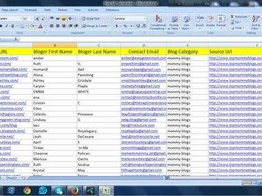 Blogger contact details find