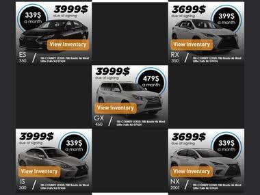 Car Inventory Ads