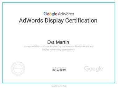 Google AdWords Display Certification