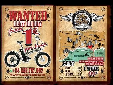 "FLYER - POSTER "" THE BIKE"" TENERIFE - SPAIN"