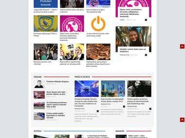 Making the website for news portal brckodanas.com