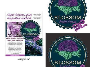 Blossom Field Farm Logo